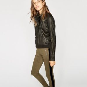The Kooples Black leather effect sweatshirt!!